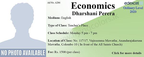 Economics O/L Tuition Colombo Sri Lanka