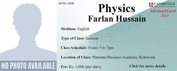 Physics Tuition Cambridge A/L at Platinum Institute Colombo