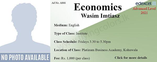 Economics Edexcel A/L Tuition Centre in Colombo