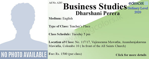 Business Tuition in Colombo Sri Lanka A2