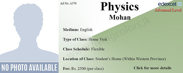 Physics O/L Home Visit Tuition in Colombo Edexcel O Level
