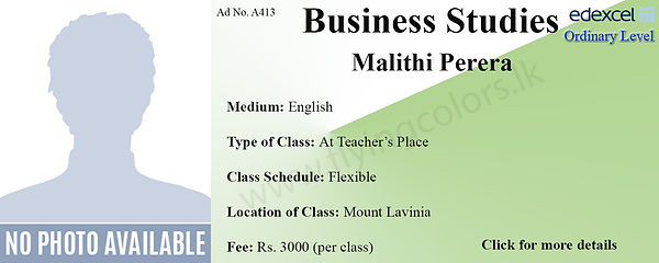 Business Studies Edexcel O/L Tuition by Ms.Malithi in Mount Lavinia Colombo