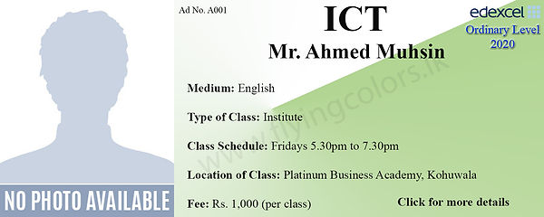 ICT Edexcel O/L Tuition Centre at Platinum Institute Kohuwala Colombo