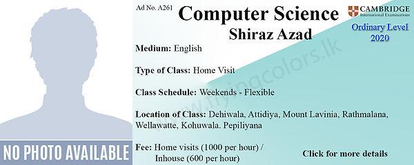Computer Science Cambridge Home Visit Tuition in Dehiwala, Attidiya, Mount Lavinia, Ratmalana, Welawatte, Kohuwala, Pepiliyana, Colombo.