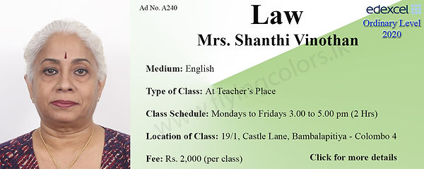 Law Edexcel A/L Tuition in Bambalapitiya Colombo 4 Sri Lanka