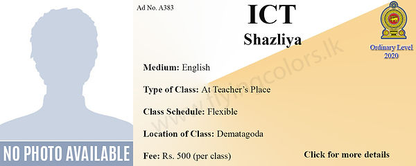 ICT National O/L 2020 Tuition in Dematagoda Colombo