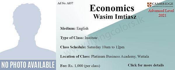 Economics Tuition Cambridge A/L at Platinum Institute Wattala Colombo