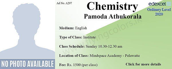 Chemistry Tuition in Colombo Edexcel O/L