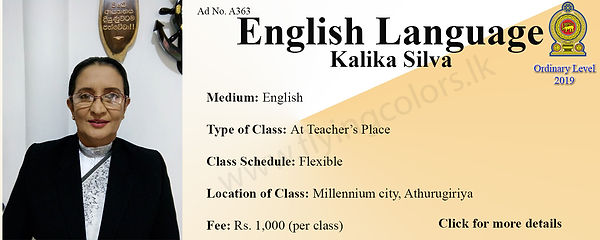 English Language O/L Tuition Centre in Colombo Athurugiriya
