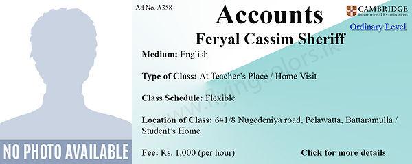 Accounts Cambridge O/L Tuition in Pelawatte, Battaramulla, Colombo