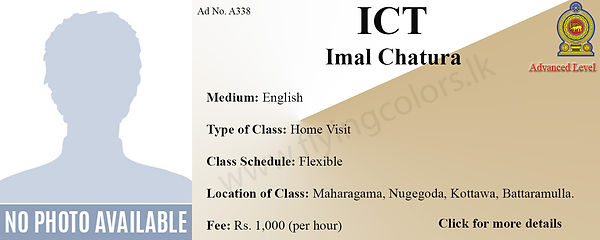 National A/L ICT Home Visit Tuition in Colombo, Mharagama, Nugegoda, Kottawa, Battaramulla