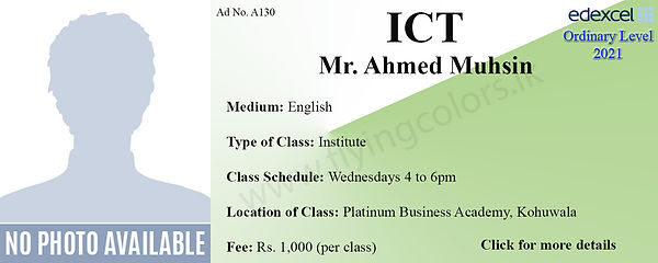 ICT 2021 Tuition Centre for Edexcel O/L at Platinum Kohuwala Colombo