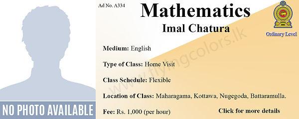 National O/L Mathematics Home Visit Tuition in Colombo Maharagama / Kottawa / Nugegoda / Battaramulla