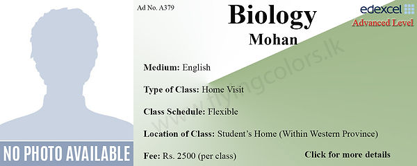 Biology O/L Home Visit Tuition in Colombo Edexcel O Level
