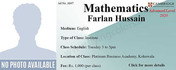 Maths Tuition Cambridge A/L at Platinum Institute Kohuwala Colombo