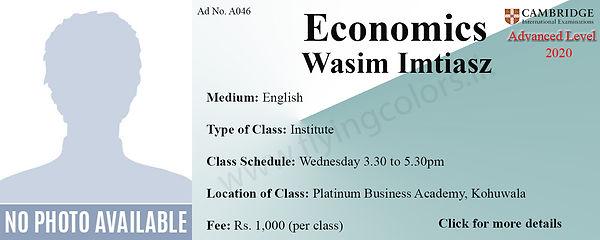 Economics Tuition Cambridge A/L at Platinum Institute Kohuwala Colombo