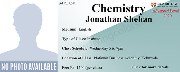 Chemistry Tuition Cambridge A/L at Platinum Institute Kohuwala Colombo