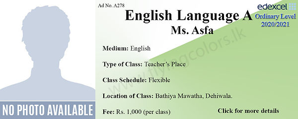 Local O Level English Language Tuition C