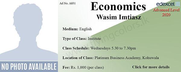 Tuition Centre for Economics Edexcel A/L in Colombo