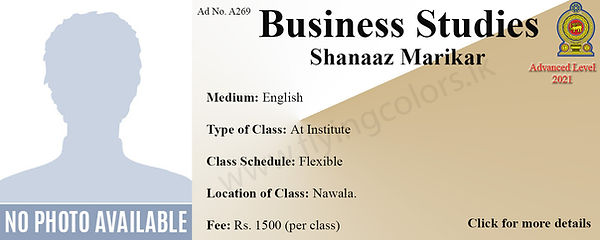 Business Studies Local A/L Tuition Colombo