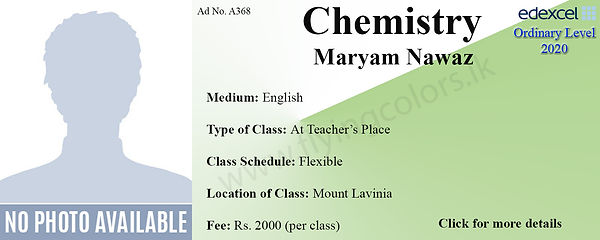 Chemistry Edexcel O Level Tuition in Mount Lavinia