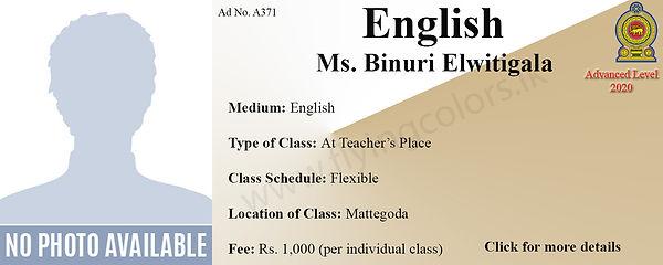 English Language National A Level 2020 Tuition in Mattegoda Colombo