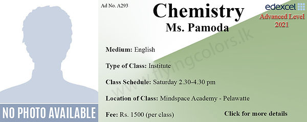 Edexcel A/L Chemistry Tuition Centre in Colombo |MindSpace Academy