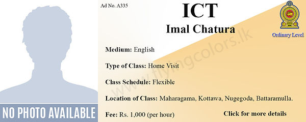 Natonal O/L ICT Home Visit Tuition in Colombo