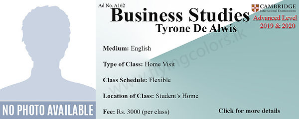 Cambridge A/L Business Studies Home Visit Tuition Colombo