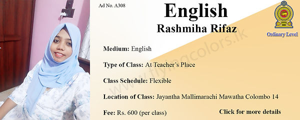National O/L English Tuition in Colombo