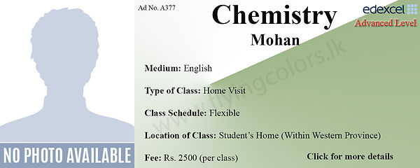 Chemistry O/L Home Visit Tuition in Colombo Edexcel O Level