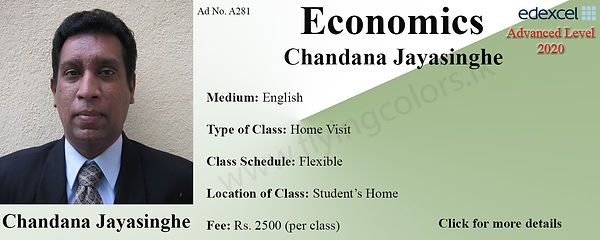 Economics Home Visit Tuition Colombo | Edexcel A/L