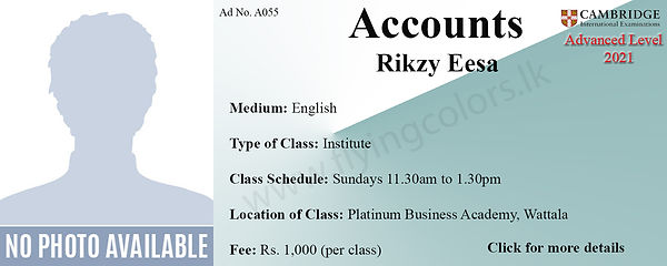 Accounts Cambridge A/L Tuition Centre Colombo - Platinum Wattala
