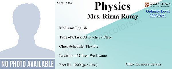 Physics Tuition in Wellawatte Cambridge O/L