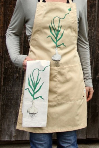 Garlic Apron, certified organic cotton and recycled polyester