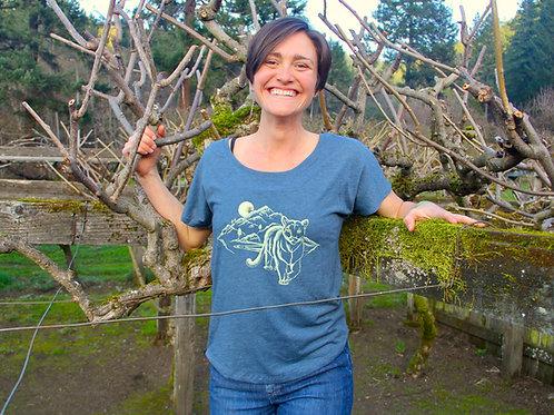 Mountain Lion Dolman Flowy Female T-Shirt