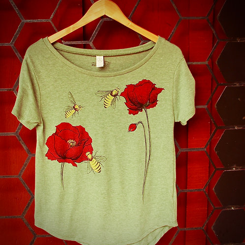 Bee Poppy Vintage Pine Ladies' Backstage T‑Shirt