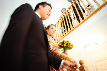 Bride and Groom Stairs