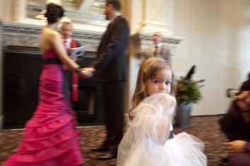 Little Girl Wedding Day