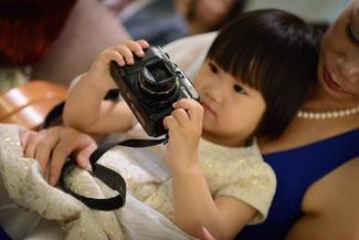 Kid and camera