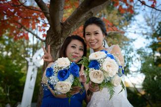 Bride and bridesmate