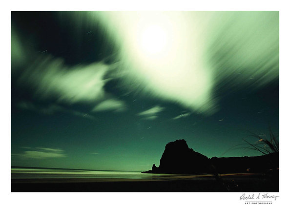 Fine Art Print -'Lion Rock Light' Piha Beach