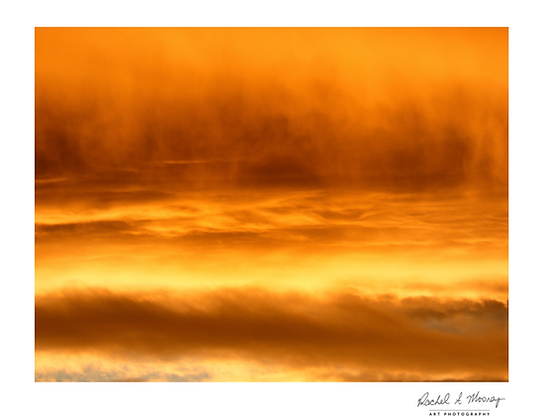 Fine Art Print - 'Fire in the Sky II' Waitakere