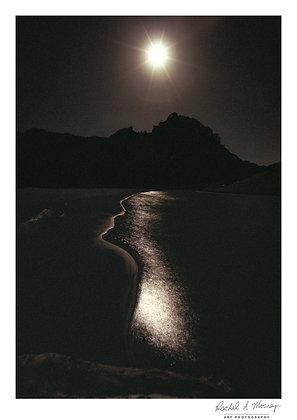 Fine Art Print -'Moonlight Sculpture' Karekare Beach