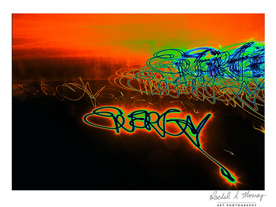 Fine Art Print - 'Energy' Written with Moonlight & Camera only