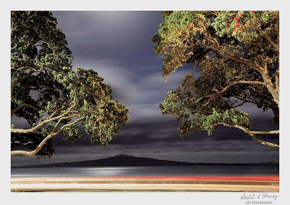 Fine Art Print -'Rangitoto Night' Kohimarama Beach