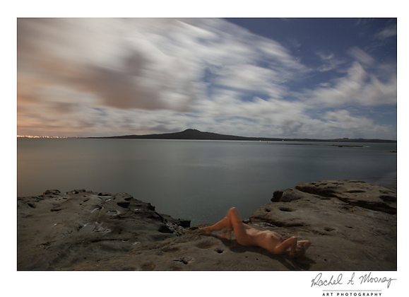 Fine Art Print - 'Self Portrait' Ladies Bay, St Heliers (night photography)