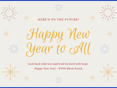 HAPPY NEW YEAR from Block Watch.