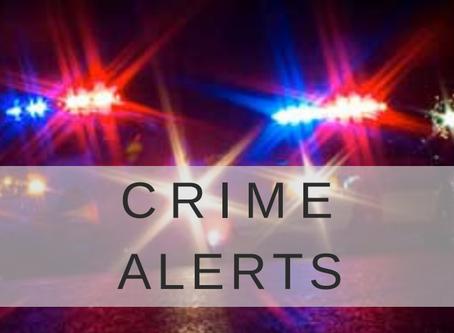 Crime Alerts Oct 15 - 22