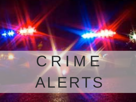 Crime Alerts for Oct 4 - 8